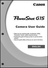 Canon Powershot G15  Digital Camera User Guide Instruction  Manual