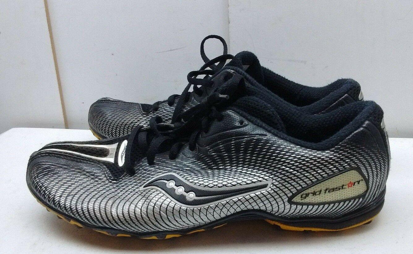 Saucony Grid Fast Star Noir Nylon Athlétique Baskets Running Chaussures Hommes 12 M 46,5