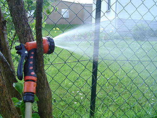 4tlg Gartenbrause 7 Funktion Spritzbrause Sprinkler Schlauchbrause Rasensprenger