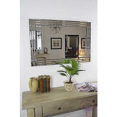 3Ft X 2Ft (91cm X 61cm) Triple Bevelled Edge Venetian Wall Mirror