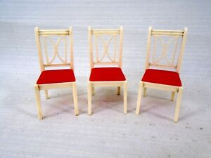 3 Vintage Ideal Dollhouse Furniture I-895 White & Red Kitchen Chair on ideal playsets, ideal wood flooring, ideal vacuum, ideal cast iron stove, ideal home care, ideal chemical, ideal garden, ideal design, ideal tile, ideal wood stoves, ideal toys, ideal beauty, ideal funeral, ideal hand tools, ideal backyard landscaping, ideal kitchen, ideal boiler, ideal mattress, ideal office,