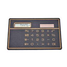 Slim Credit Card Solar Power Pocket Calculator Novelty Small Travel Compact