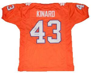 half off e685b 319be Details about TERRY KINARD SIGNED AUTOGRAPHED CLEMSON TIGERS #43 ORANGE  JERSEY JSA