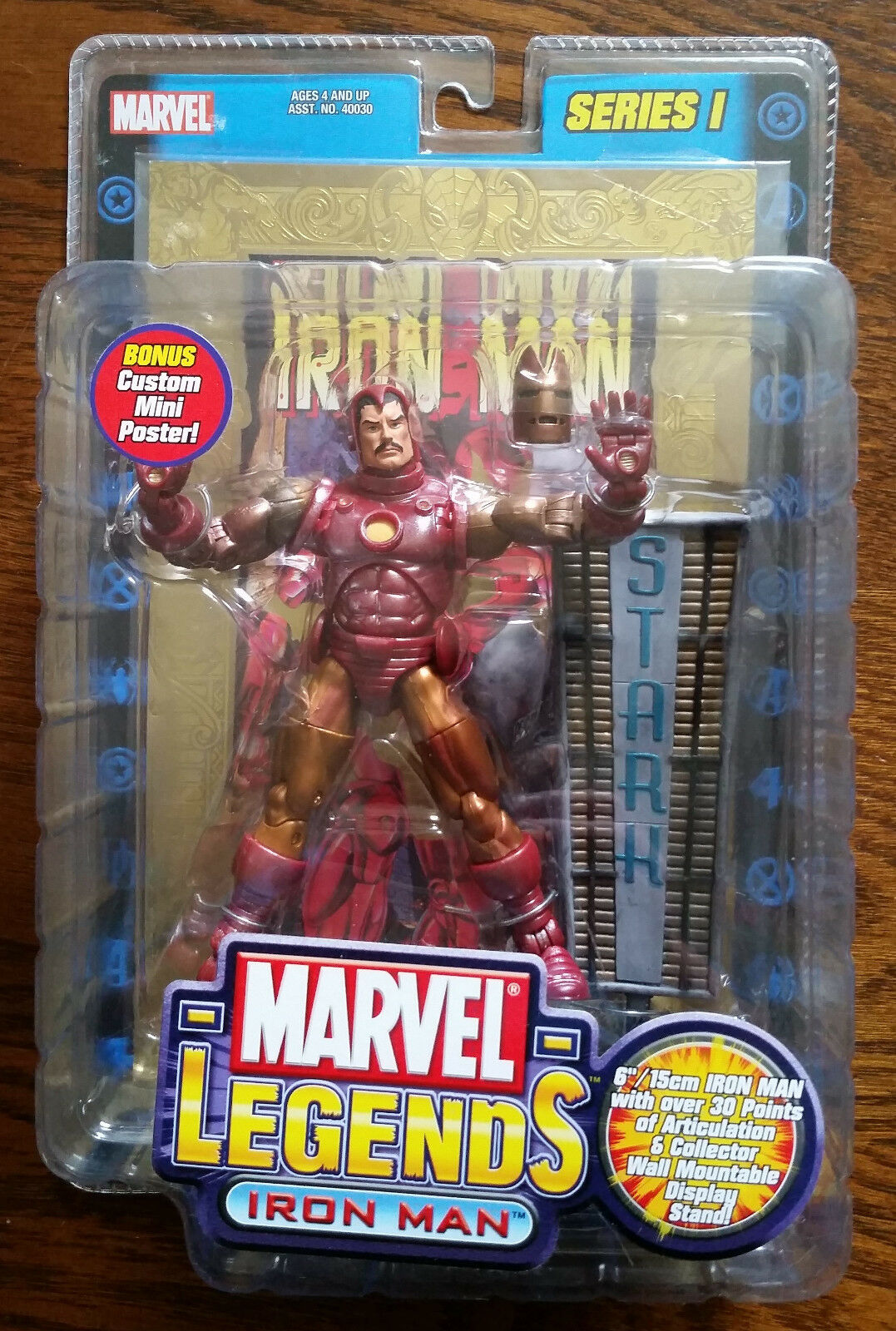 VERY RARE Marvel Legends Series1 VARIANT GOLD IRON MAN 6 inch Action Figure NEW
