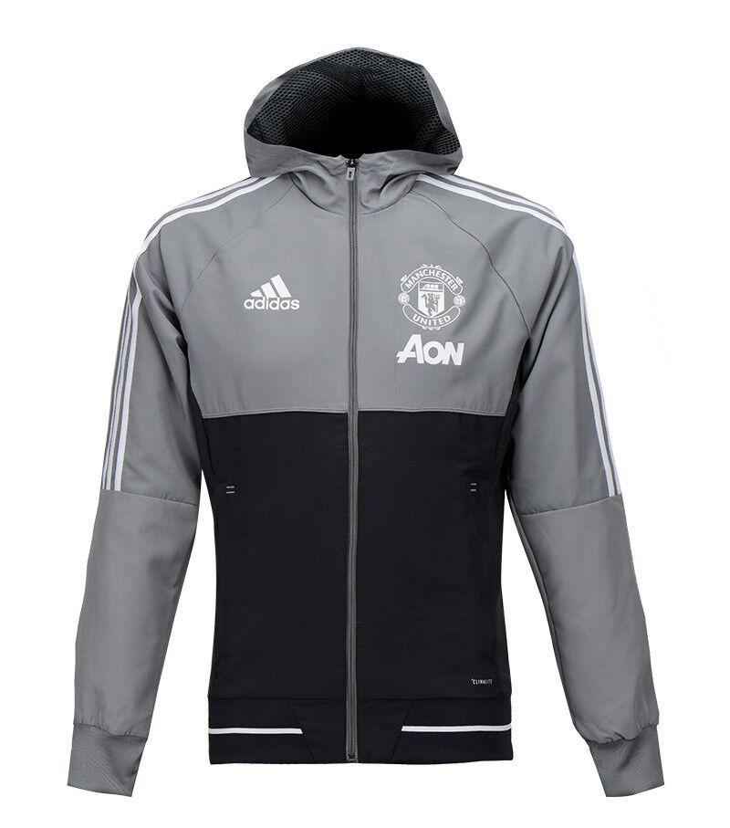 Adidas Manchester United Presentation Jacket (BS4378) Hooded Zip-up Hoodie Top