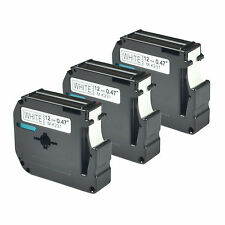 3PK Black on White Compatible for Brother P-touch Label M231 MK231 PT-65SB PT-65