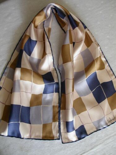 "Cravat ~ Squares Design Soft Colours 33/"" Richard Allan Small Silk Twill Scarf"
