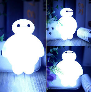 Details About Cute Sensor Led Small Night Light Bulb Energy Saving Lamp Kids Home Baymax Gift