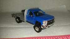 1/64 CUSTOM 2015 chevrolet chevy 3500 duramax flatbed pickup truck ERTL farm toy
