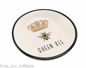 Fabulous-Queen-Bee-Gold-Crown-Ceramic-Jewellery-Ring-Dish-Gold-Boxed-Gift-xmas