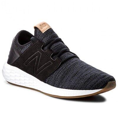 New Balance Men Fresh Foam Cruz V2 Knit Sneakers Shoes Color Black with Magnet