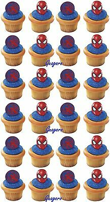 Spider-Man 32 Cupcake Cake Rings Birthday Party Supply Favors Prizes Decorations