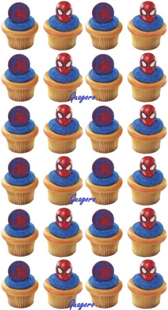 Spider-Man 21 Cupcake Cake Rings Birthday Party Supply Favors Prizes Decorations