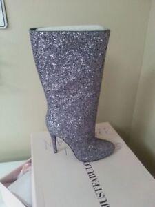 justfab Boots glitter high heels women