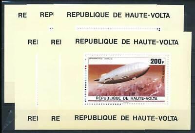 Obervolta Einzelblöcke 625-30** Zeppeline Verkehr & Transport WunderschöNen 584385 Luftfahrt