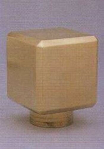 """SR211T Polished Brass Cubical Top for 2/"""" Tubing"""