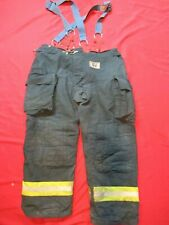 Morning Pride Fire Fighter Turnout Pants 44 X 32 Black Bunker Gear Suspenders