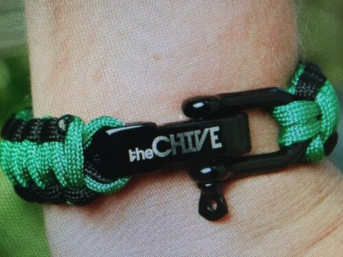 the Chive *Authentic* Paracord Bracelet expands to 7 feet
