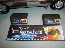 1/18 -Plymonth CUDA Accessory Garage Set-19 piece's-for your shop/garage/diorama