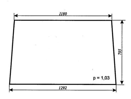 Fortschritt IFA   ZT 323-A  Heckscheibe  Scheibe Mit CE  Zeichen