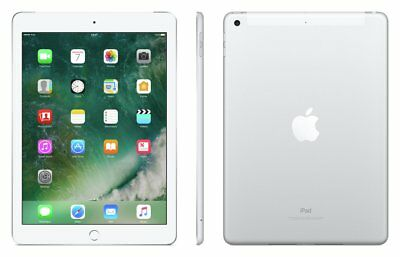 Apple iPad 5 9.7 Inch 128GB WiFi + Cellular Unlocked Tablet - Silver.