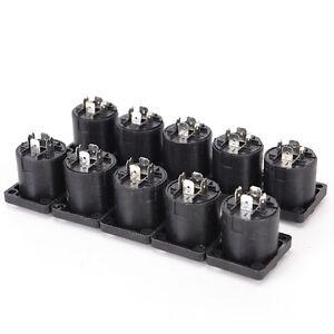 10x-Speakon-4-Pin-Female-jack-Compatible-Audio-Cable-Panel-Socket-Connector-La