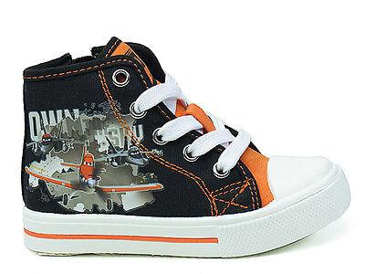 Sneaker Freizeitschuh Halbschuhe Jungen Schuhe Planes schwarz orange 24-30 #13