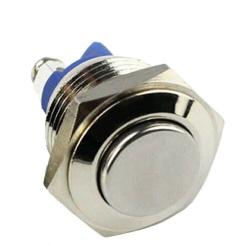 19mm Raised Top Start Horn Momentary Metal Push Button Switch Stainless AB Sales