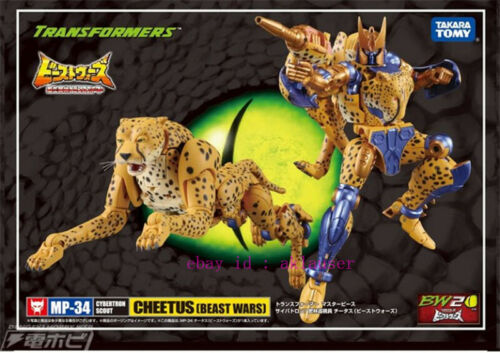 Details about  /New Takara Tomy Transformers Beast Wars Mp34 Cheetor Action Figure Toy In Stock