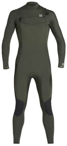 Olive Billabong Men/'s 403 Furnace Absolute Chest Zip Wetsuit New