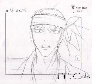 Image Is Loading Bleach Anime Douga Abarai Renji Original Animation Drawing