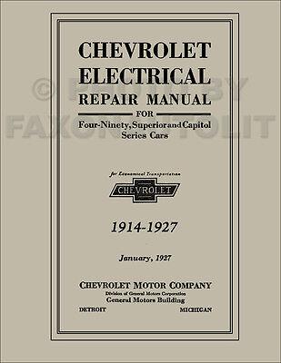 1914-1927 Chevrolet Electrical Repair Manual Troubleshooting Wiring Diagram  Shop | eBay