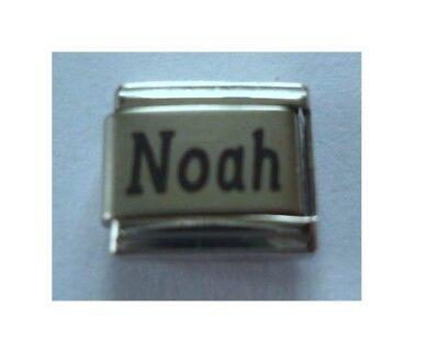 9mm Classic Size Italian Charm Names  Name Noah