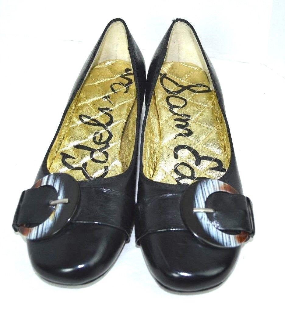 Sam Edelman Noir en Cuir Véritable Chaussures Femmes Taille 8.5 M