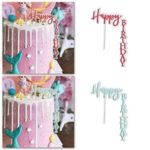 Acrylic Cake Topper Insert Card Happy Birthday Love Decor ...