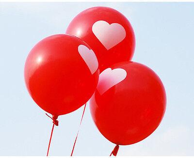 "12"" 50&100pcs Heart Shape Latex Balloons Birthday Wedding Valentine' Day Decor"