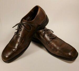 BANANA REPUBLIC Leather Moc Toe Oxford Dress Shoes Men's 10.5 M Brown