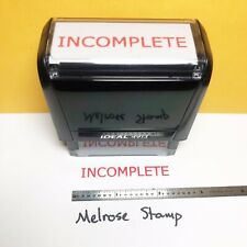 New Listingincomplete Rubber Stamp Red Ink Self Inking Ideal 4913