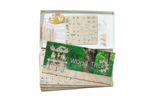 Wood Trick Karussell 3D Holzbausatz Holzpuzzle Modellbausatz Holz wood carousel