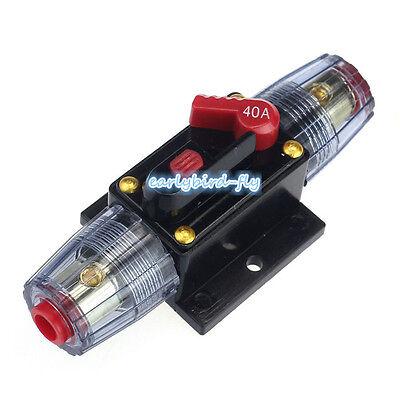 40 Amp In-Line Circuit Breaker Stereo/Audio/Car/RV 40A/40AMP Fuse 12V/24V/32V