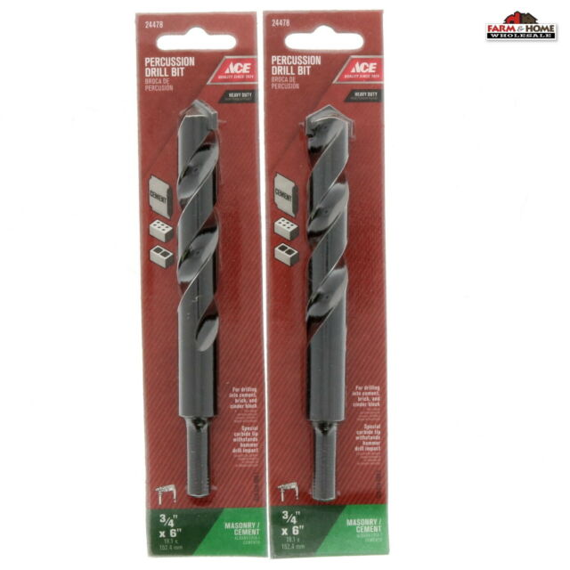 "ACE 7//8/"" X 13/"" Carbide Masonry Concrete Hammer Drill Bit 2108496 for sale online"