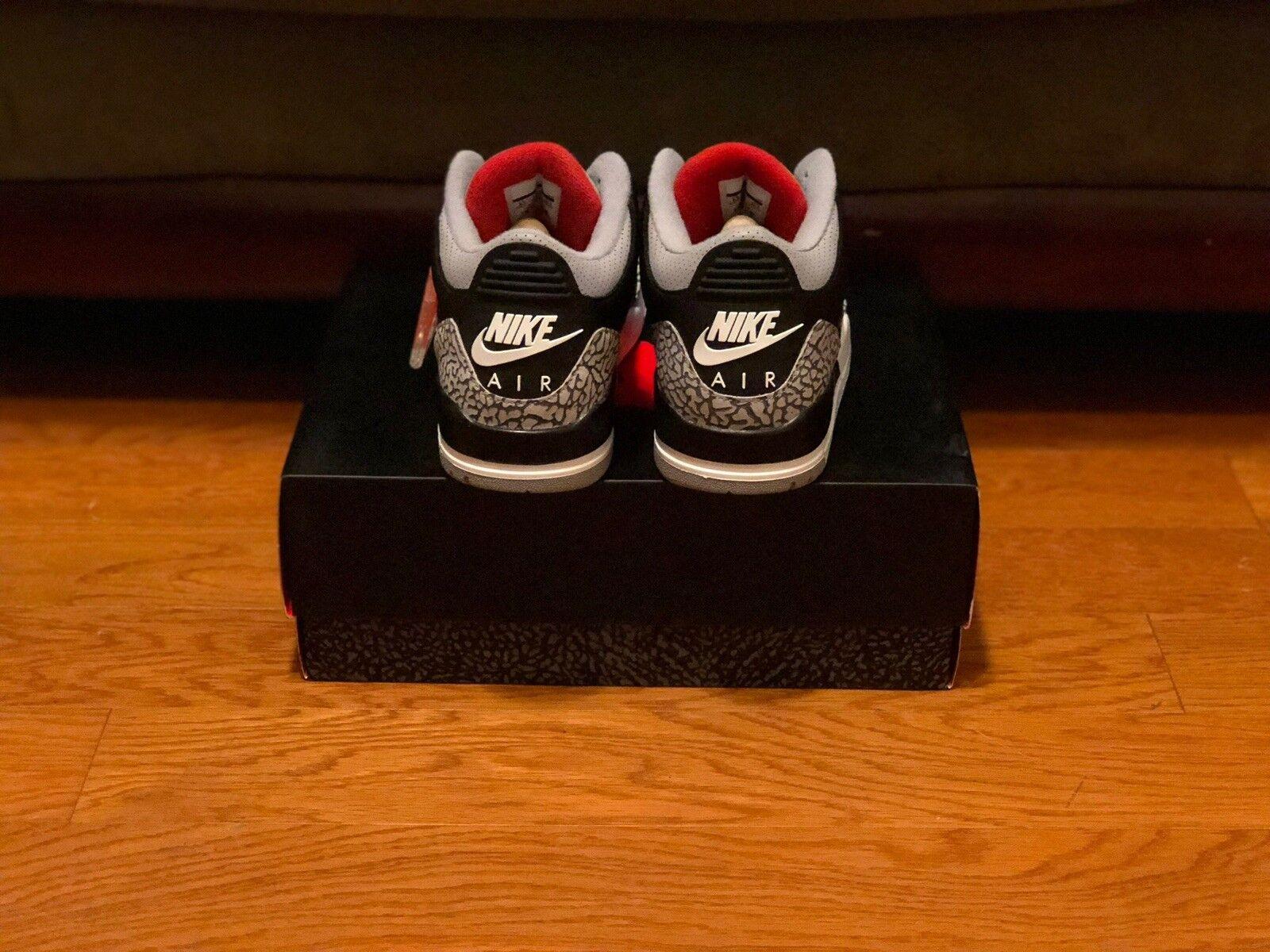 65b01922894 Nike Air Retro 3 Black Cement 88 sz US 8.5 Tinker Jordan  nouqwj8596-Athletic Shoes