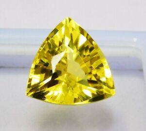 Natural-CERTIFIED-Trillion-Cut-8-Ct-Yellow-Ceylon-Sapphire-Loose-Gemstone