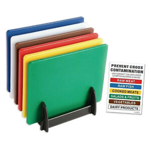 PROFESSIONAL-CATERING-FOOD-CUTTING-CHOPPING-BOARDS-COLOUR-CODED-450mm-x-300mm