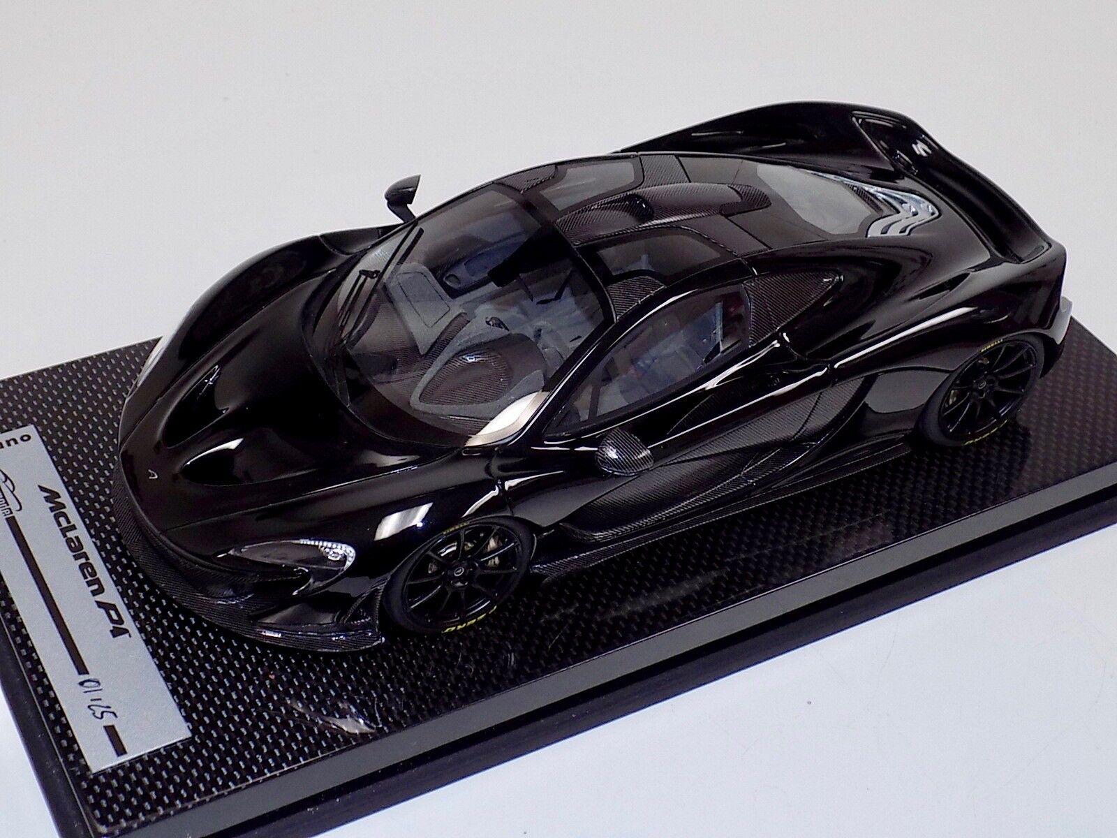 25カーボンの黒い車輪による光沢黒いものの1 / 18 TechnomodelマクラーレンP 1