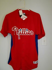 buy online 70c39 b3e99 Details about Philadelphia Phillies baseball jersey by Majestic Ryan Howard  # 6 Boys XL NEW