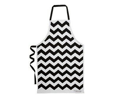 Chevron Black New Trend 100% Cotton Apron Annabel Trends Quality Mother's Day