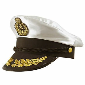 Adultes-Satin-Chapeau-Capitaine-Taille-Unique-Adulte-Officier-Marine-Deguisement