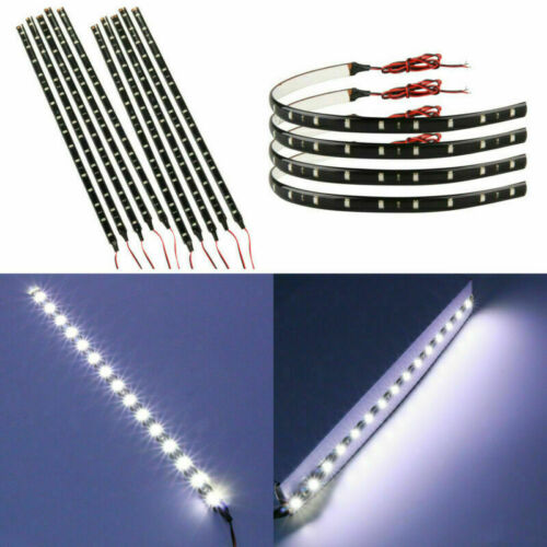 4//10Pcs 30 cm DC 12 V 15 DEL 1210 3528 SMD voiture blanche DEL Strip Lights Waterproof