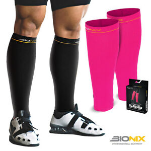 Compression-Calf-Sleeves-Pair-Shin-Splints-Running-Support-Guards-Socks-Cycling